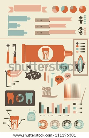 teeth care infographics with...