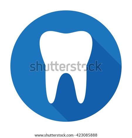 teeth icon dentist flat vector