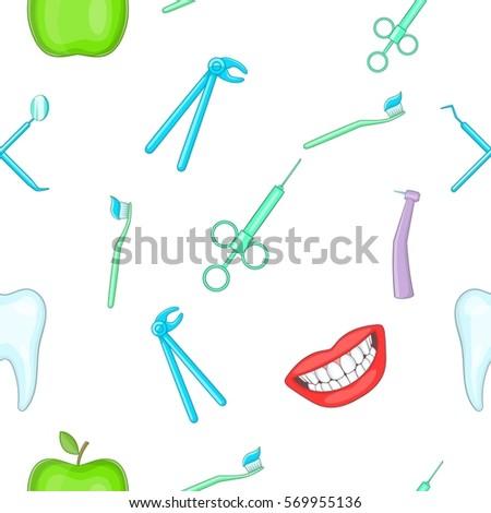 teeth pattern cartoon