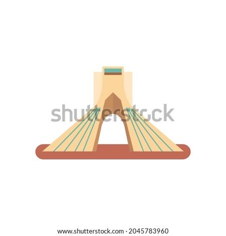 Teheran landmark. Vector flat illustration. Stock fotó ©