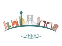 Tehran city illustration