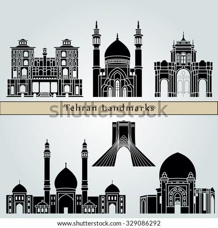 tehran landmarks and monuments