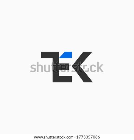 tek letter initials logo vector Stok fotoğraf ©