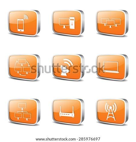 Orange Icon Design Set 2 Orange Telecom Icon