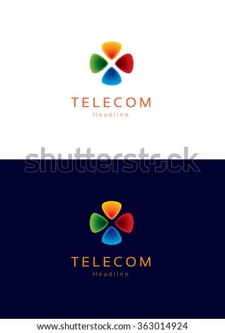 telecom logo template