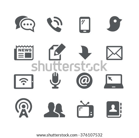 Telecommunications Icons // Utility Series