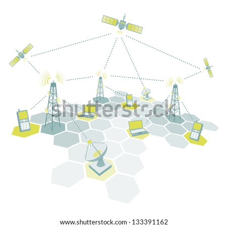 Telecommunications working diagram