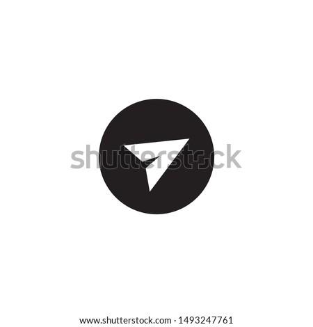 telegram icon in dark ellipse
