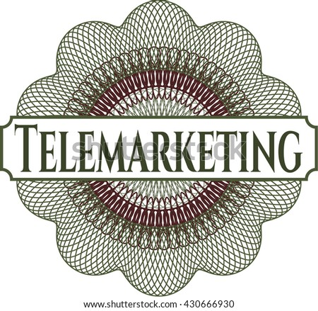 Telemarketing abstract rosette
