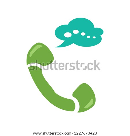 telephone conversation - Phone sign icon. Call center, communication icon - Phone cell symbol