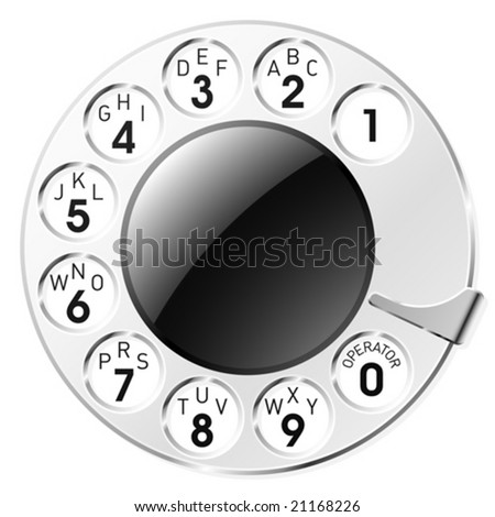 Telephone dial. Vector.
