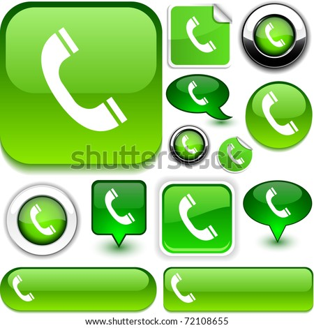 Telephone green signs.