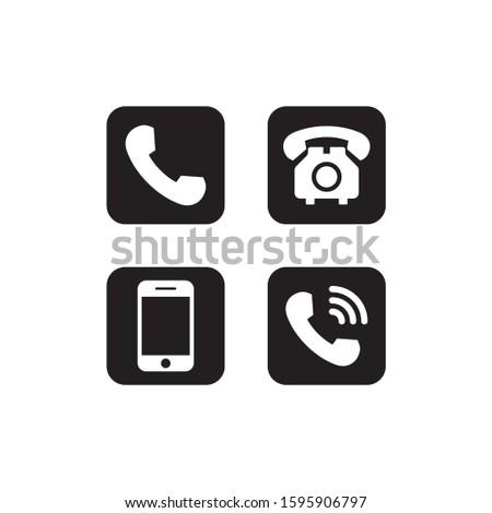 Telephone icon set vector. Phone set icon