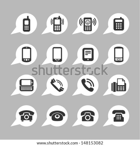 Telephone icons for app