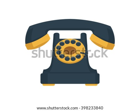 telephone illustration   flat...