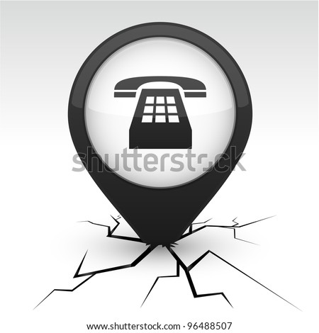 Telephone modern icon. Vector illustration.