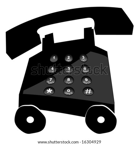 telephone on wheels - making calls in a hurry