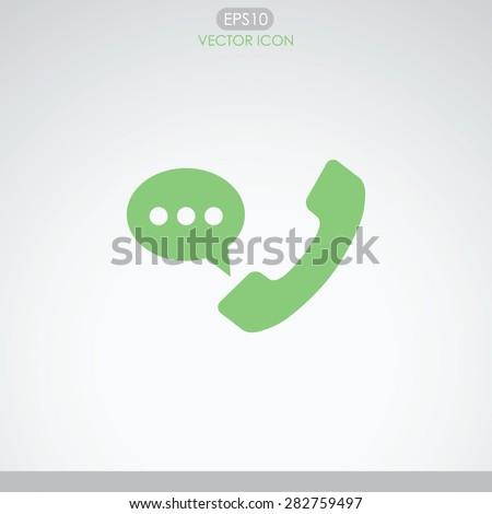 Telephone receiver vector icon.