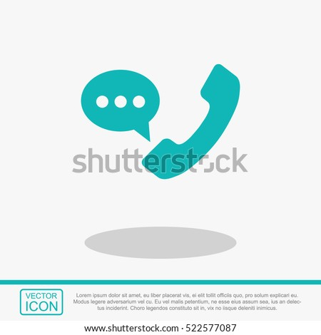 Shutterstock Telephone receiver vector icon.