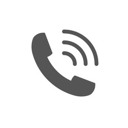 Telephone vector icon for web site and mobile app. EPS 10