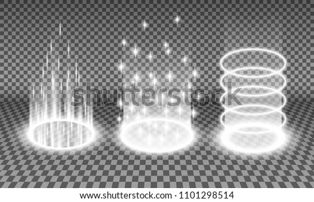 teleport light effects vector