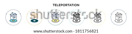 teleportation icon in filled