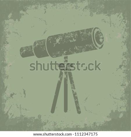 Telescope concept vector design