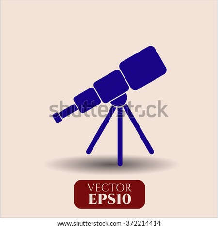 Telescope high quality icon