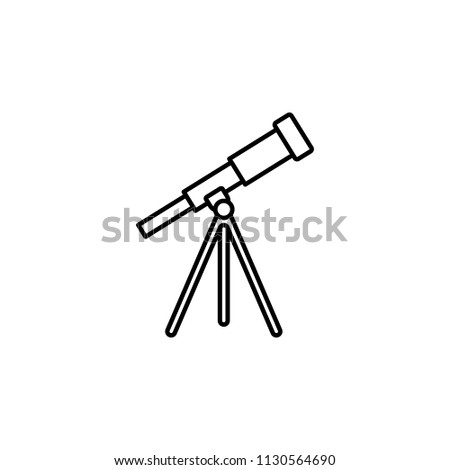 telescope icon. Element of education icon for mobile concept and web apps. Thin line telescope icon can be used for web and mobile