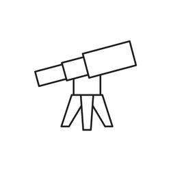 telescope icon illustration isolated vector sign symbol