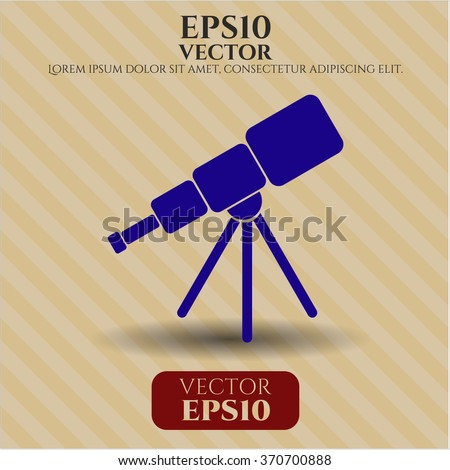 Telescope icon vector illustration
