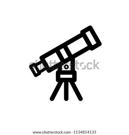 Telescope icon,vector illustration. Flat design style. vector telescope icon illustration isolated on White background, telescope icon Eps10. telescope in  icons graphic design vector symbols.