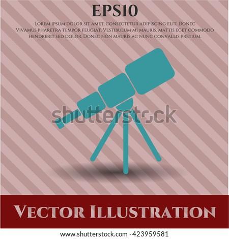 telescope icon vector symbol flat eps jpg app web concept