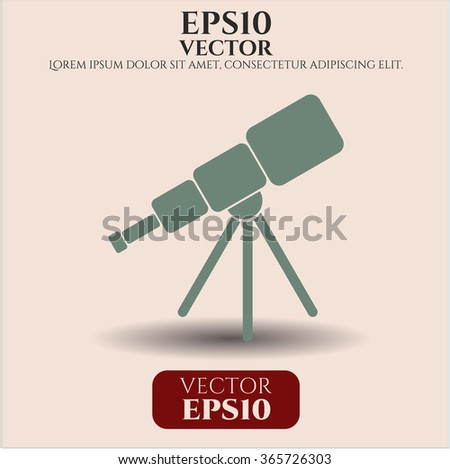 Telescope vector icon or symbol