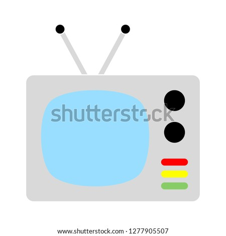 television icon- television show isolated, channel movie illustration - Vector television