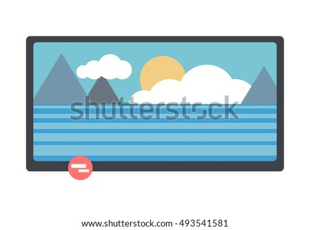 television monitor with nature