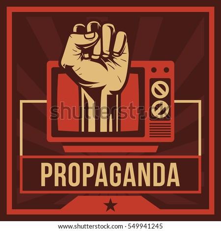 Shutterstock Television Propaganda Poster, Fist Hand
