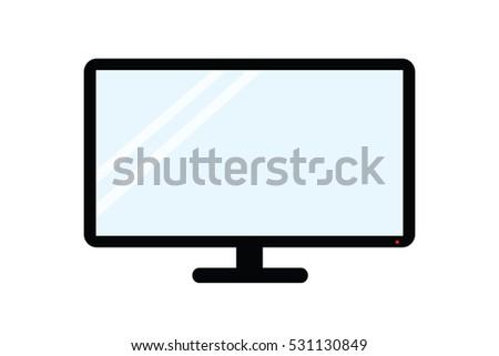 Television shiny. Television icon vector