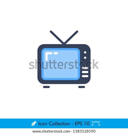 television  tv  icon   vector