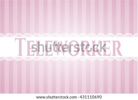 Teleworker banner or poster