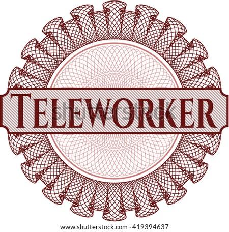 Teleworker rosette (money style emplem)