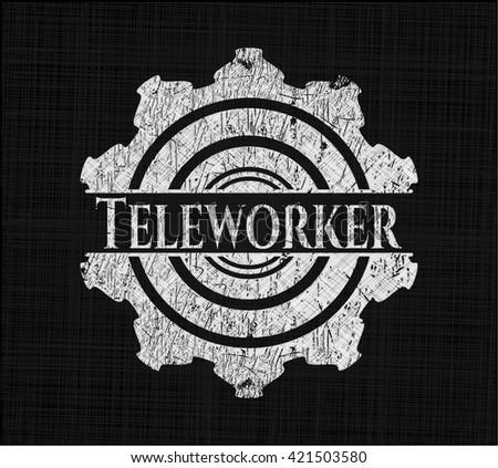 Teleworker written on a blackboard
