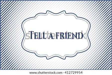 Tell a friend card with nice design