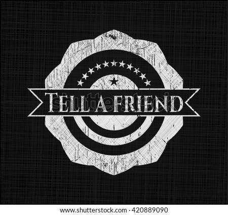 Tell a friend on blackboard