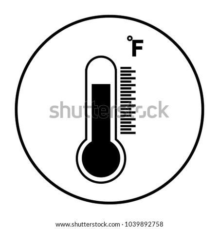 Temperature fahrenheit icon