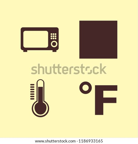 temperature icon. temperature vector icons set delicate gentle degrees, temperature, microwave and fahrenheit