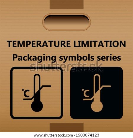 TEMPERATURE LIMITATION symbol for use on cartons, packages and parcels