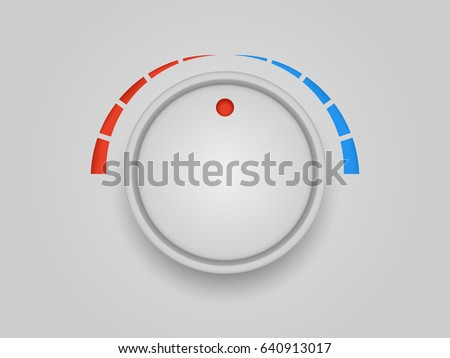 Temperature regulator cold and hot vector banner