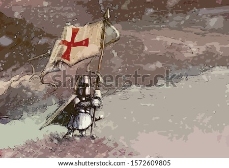 templar   white knight standing