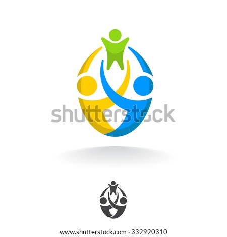 template abstract vector logo